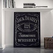 """Для дома и интерьера ручной работы. Ярмарка Мастеров - ручная работа Интерьерная вывеска """"Jack Daniels-2 Gray"""". Handmade."""