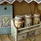 """Для дома и интерьера ручной работы. Ярмарка Мастеров - ручная работа """"Оливковая ветка"""" комплект для кухни. Handmade."""