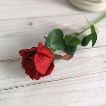 Материалы для творчества ручной работы. Ярмарка Мастеров - ручная работа Искусственные розы одиночная ветка. Handmade.