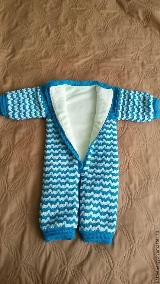 Одежда для мальчиков, ручной работы. Ярмарка Мастеров - ручная работа. Купить Теплый комбинезон на флисе. Handmade. Тёмно-бирюзовый