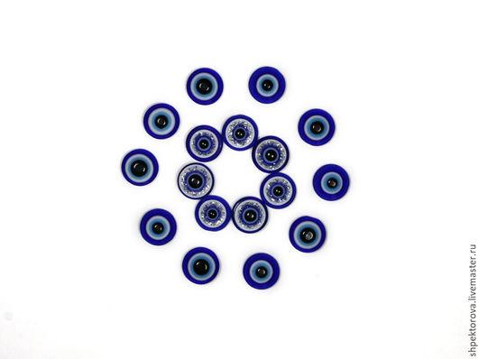 """Другие виды рукоделия ручной работы. Ярмарка Мастеров - ручная работа. Купить Кабошоны стеклянные круглые """"Турецкий глаз"""" 10мм. Handmade."""