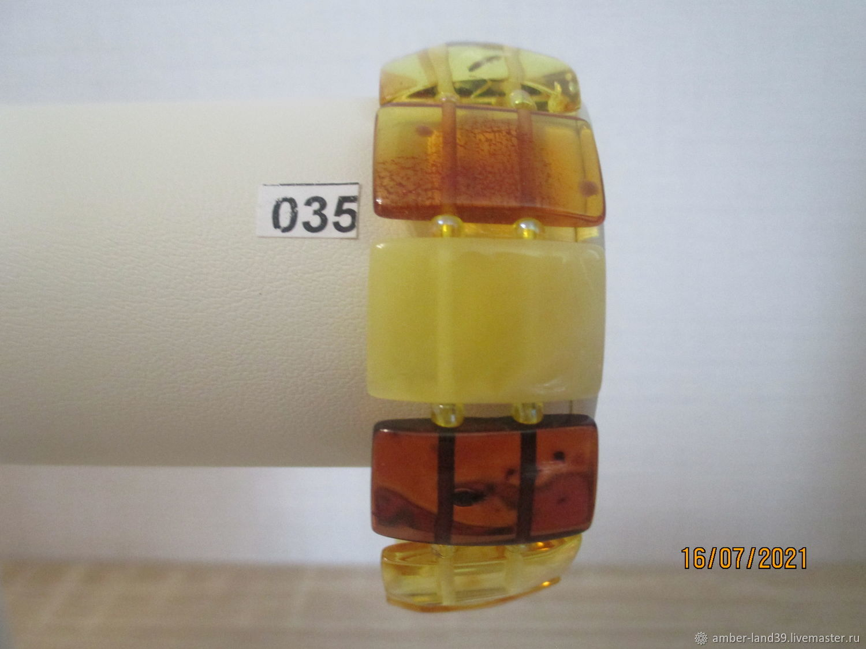 Браслет янтарный многоцветный плоский 1, Браслет из бусин, Калининград,  Фото №1