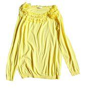 Винтаж ручной работы. Ярмарка Мастеров - ручная работа Пуловер жёлтый. Handmade.