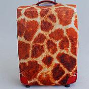 "Сумки и аксессуары handmade. Livemaster - original item Luggage cover ""Giraffe skin"". Handmade."