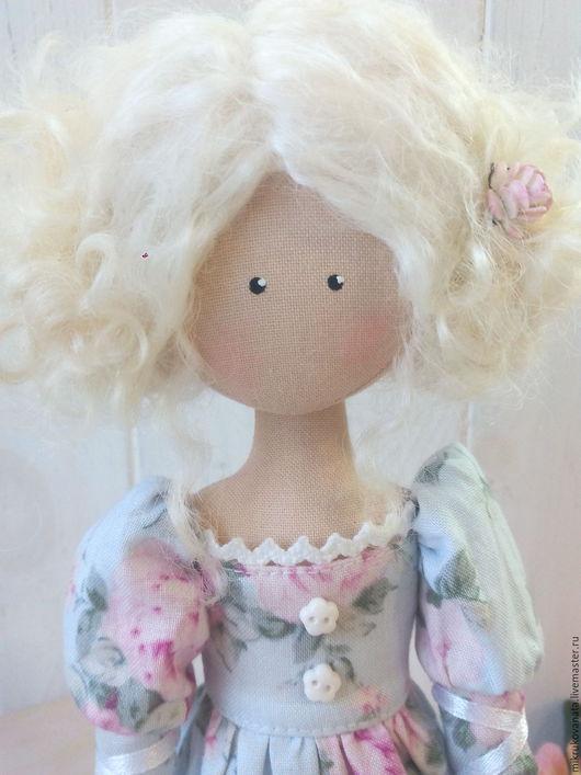 Коллекционные куклы ручной работы. Ярмарка Мастеров - ручная работа. Купить Куколка..... Handmade. Голубой, интерьерная игрушка, скворечник