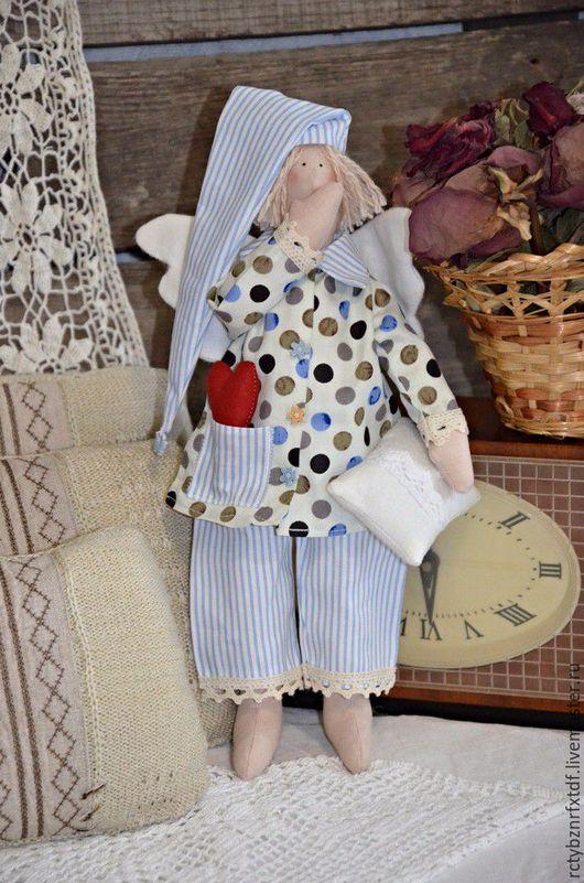 Куклы Тильды ручной работы. Ярмарка Мастеров - ручная работа. Купить Кукла Тильда Сплюшка текстильная, интерьерная. Сонный Ангел.. Handmade.