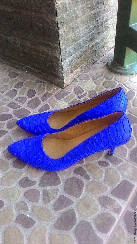 Обувь ручной работы. Ярмарка Мастеров - ручная работа. Купить Туфли лодочки. Handmade. Тёмно-синий, туфли- лодочки