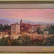 Картины и панно ручной работы. Ярмарка Мастеров - ручная работа Вышитая картина Альгамбра. Handmade.