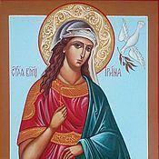 Картины и панно handmade. Livemaster - original item Saint Irene Of Macedonia.The great Martyr. Handmade.