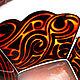 Вазы ручной работы. Заказать Набор для виски «Лев». Штина Алёна (alenushkashtina). Ярмарка Мастеров. Витражная роспись, штоф, трайбл