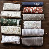 handmade. Livemaster - original item Leftover fabric linen cotton cuts for sewing toys dolls scrapbooking. Handmade.