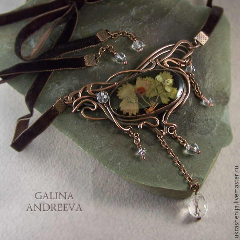 Pendant necklace wild strawberry aroma shop online on livemaster pendants handmade livemaster handmade buy pendant necklace wild strawberry aroma aloadofball Images