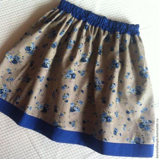 Одежда для девочек, ручной работы. Ярмарка Мастеров - ручная работа. Купить Легкая летняя юбка для девочек. Handmade. Морская волна