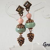 Украшения handmade. Livemaster - original item earrings coral. Handmade.