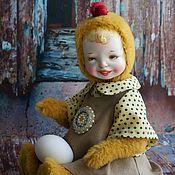 """Куклы и игрушки handmade. Livemaster - original item Dressed Chick Baby Face Art Doll 13"""". Handmade."""
