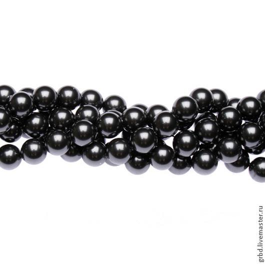 Для украшений ручной работы. Ярмарка Мастеров - ручная работа. Купить Жемчуг Сваровски 8 мм 5810 Black (08-298). Handmade.
