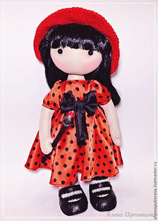 Коллекционные куклы ручной работы. Ярмарка Мастеров - ручная работа. Купить Кукла интерьерная. Handmade. Ярко-красный, интерьерная, трикотаж