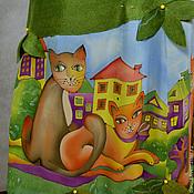 Одежда ручной работы. Ярмарка Мастеров - ручная работа сарафан валяный с кошками.. Handmade.