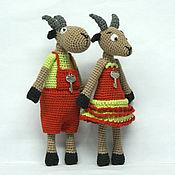 """Куклы и игрушки ручной работы. Ярмарка Мастеров - ручная работа Игрушки """"Кузьма да Маха"""". Handmade."""