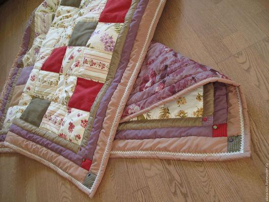 Текстиль, ковры ручной работы. Ярмарка Мастеров - ручная работа. Купить Лоскутное одеяло Дачное ягодно-цветочное. Handmade.