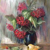 Картины и панно ручной работы. Ярмарка Мастеров - ручная работа Калина красная. Handmade.