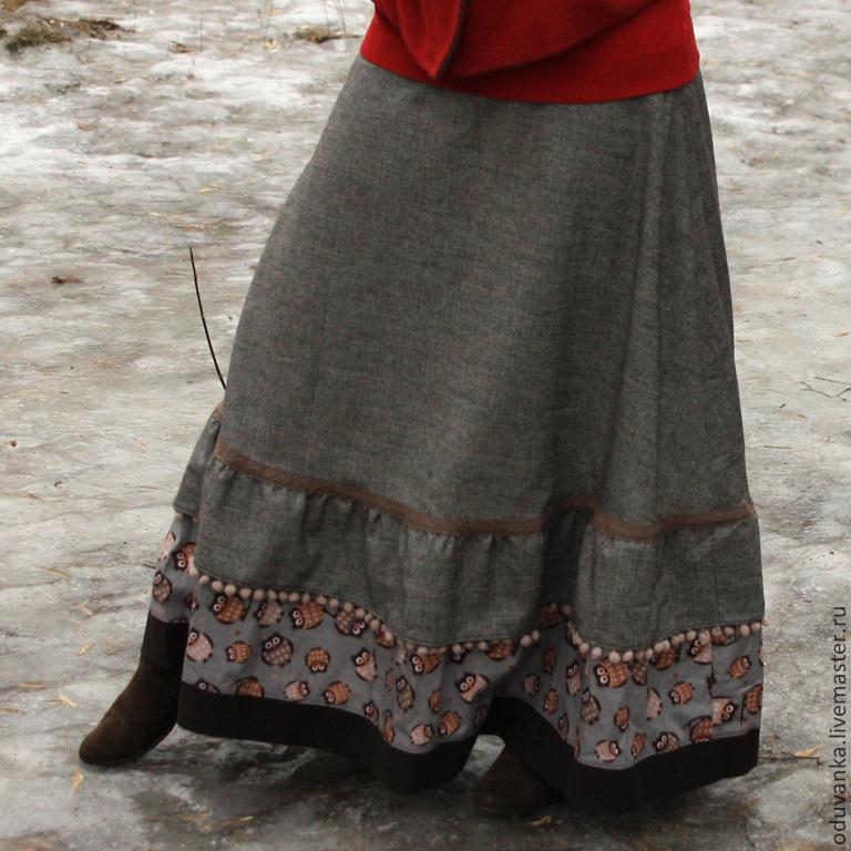 Длинные юбки зимние Москва