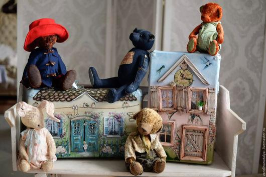 чемодан `Домой` №2 с мишками Ксении Богатырёвой