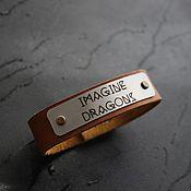 Украшения handmade. Livemaster - original item Bracelet genuine leather band bracelet Imagine Dragons. Handmade.