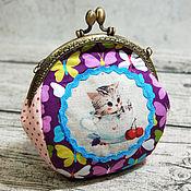 Работы для детей, handmade. Livemaster - original item Handbag for girl with clasp