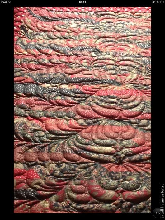 """Текстиль, ковры ручной работы. Ярмарка Мастеров - ручная работа. Купить Стеганое лоскутное одеяло """"Holyday in Kashmir"""". Handmade."""