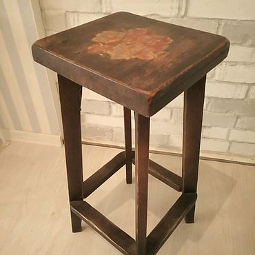 Мебель ручной работы. Ярмарка Мастеров - ручная работа Табурет барный Кантри. Handmade.