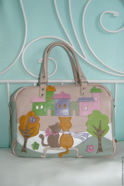 Bag leather 'Idyll' powdery-beige 2, Classic Bag, Yaroslavl,  Фото №1