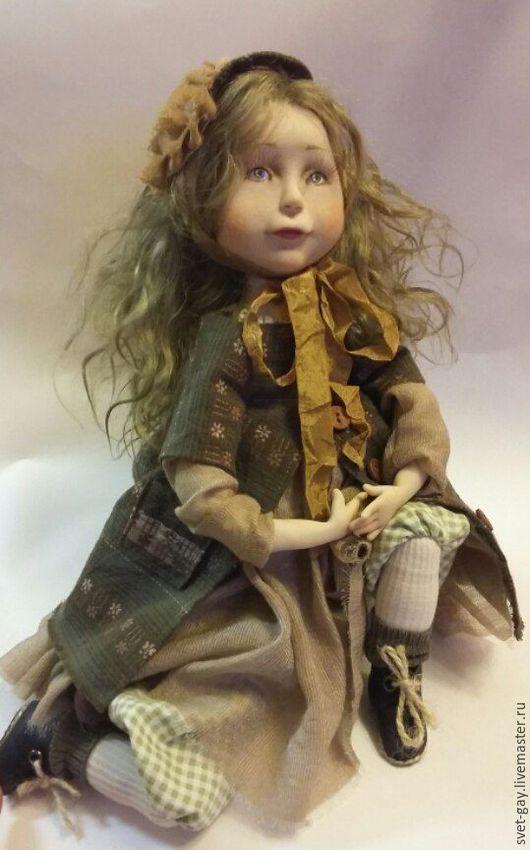 Коллекционные куклы ручной работы. Ярмарка Мастеров - ручная работа. Купить Кукла Фаечка.. Handmade. Хаки, кукла ручной работы