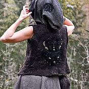 """Одежда ручной работы. Ярмарка Мастеров - ручная работа Жилет из войлока """"Сердце лесного бога"""", шерстяной валяный жилет бохо. Handmade."""