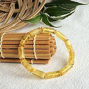 handmade. Livemaster - original item Bracelet from Baltic amber, color is lemon, 7 g. Handmade.