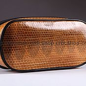 Сумки и аксессуары handmade. Livemaster - original item Cosmetic bag made of sea snake skin IML0003UK. Handmade.