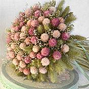 Цветы и флористика ручной работы. Ярмарка Мастеров - ручная работа «Сахарный мармелад» букет из сухоцветов. Handmade.