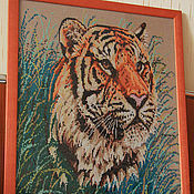 Pictures handmade. Livemaster - original item Embroidered picture of