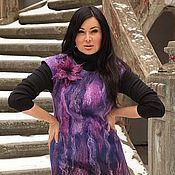 """Одежда ручной работы. Ярмарка Мастеров - ручная работа Валяное платье """"Ягодный микс"""". Handmade."""