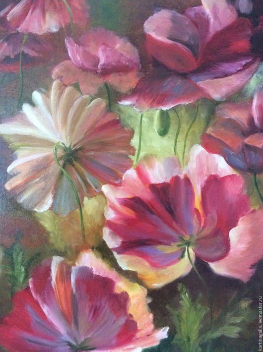 Картины цветов ручной работы. Ярмарка Мастеров - ручная работа. Купить Лето в разгаре. Handmade. Ярко-красный, картина в подарок