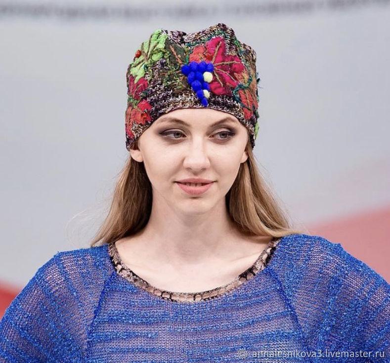 Шапка ручной работы ВИНОГРАД, Шапки, Москва,  Фото №1
