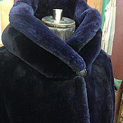 Одежда ручной работы. Ярмарка Мастеров - ручная работа Шуба бобровая темный фиолет. Handmade.