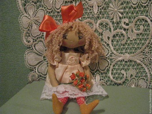 Коллекционные куклы ручной работы. Ярмарка Мастеров - ручная работа. Купить Моник. Handmade. Бежевый, подарок на день рождения, кружево