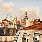 Картины и панно handmade. Livemaster - original item Photo pictures of the city, Solar rooftops of Paris painting for interior. Handmade.