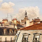 Картины и панно ручной работы. Ярмарка Мастеров - ручная работа Фотокартина город, Солнечные крыши Парижа картина для интерьера. Handmade.