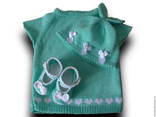 Одежда для девочек, ручной работы. Ярмарка Мастеров - ручная работа. Купить комплект для малышки. Handmade. Комбинированный, комплект для девочки