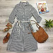 Одежда handmade. Livemaster - original item Striped shirt dress. Handmade.