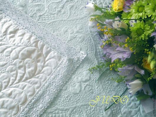 """Для новорожденных, ручной работы. Ярмарка Мастеров - ручная работа. Купить Одеяло для новорожденного """"Султан"""" в голубом. Handmade. Белый"""