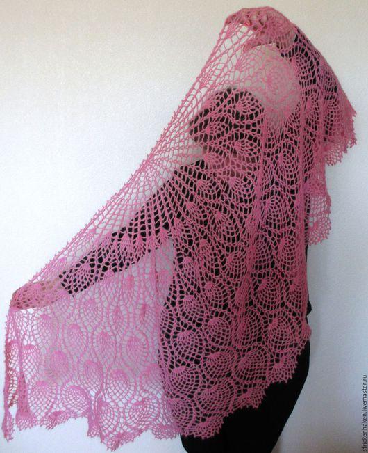 """Шали, палантины ручной работы. Ярмарка Мастеров - ручная работа. Купить шаль """"Розовый зефир"""", шаль ажурная, шаль вязаная, шаль ручной работы. Handmade."""