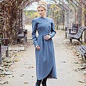 Одежда ручной работы. Ярмарка Мастеров - ручная работа Серое длинное пальто. Handmade.